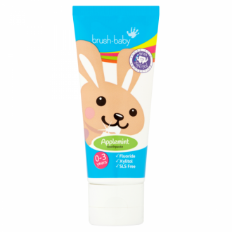 БРЪШ-БЕЙБИ ЕПЪЛМИНТ Паста за зъби за деца 0-3 г. 50мл. | BRUSH-BABY APPLEMINT Toothpaste for kids 0-3 50ml