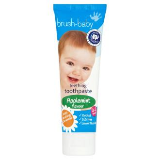 БРЪШ-БЕЙБИ ДЖЕНТЪЛ ЕПЪЛМИНТ Паста за зъби за бебета и деца 0-2 г. 50мл. | BRUSH-BABY GENTLE APPLEMINT Toothpaste for babies & kids 0-2 50ml