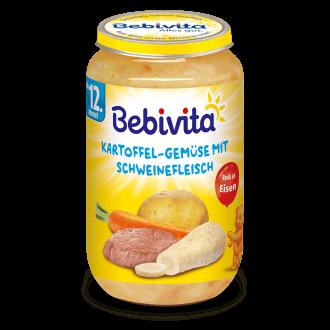 БЕБИВИТА Картофи със зеленчуци и свинско месо 12+ м. 250гр. | BEBIVITA Potatoes with vegetables and pork 12+ 250g