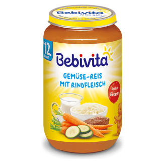 БЕБИВИТА Ориз със зеленчуци и телешко месо 12+ м. 250гр. | BEBIVITA Rice with vegetables and beef 12+ 250g