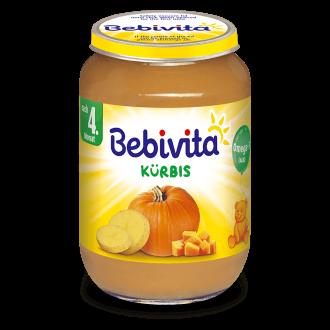 БЕБИВИТА Пюре от Тиква 4+ м. 190гр. | BEBIVITA Pumpkin puree 4+ 190g