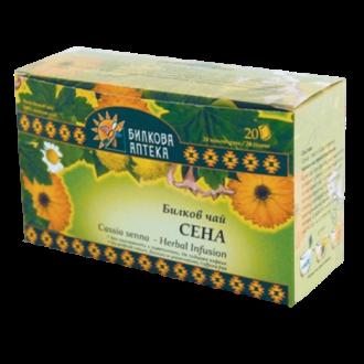 Билков чай Сена 20бр филтърни пакетчета, 30гр БИЛКОВА АПТЕКА БИОХЕРБА   Herbal tea Cassia Senna 20s teabags, 30g HERBAL PHARMACY BIOHERBA