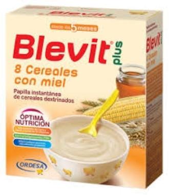 БЛЕВИТ ПЛЮС БЕЗМЛЕЧНА Каша с 8 зърнени храни и мед с бифидус ефект 300гр   BLEVIT PLUS Papilla instantanea 8 Cereales con miel 300g