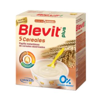 БЛЕВИТ ПЛЮС  БЕЗМЛЕЧНА Каша с 5 зърнени храни с бифидус ефект 300гр   BLEVIT PLUS Papilla instantanea 5 Cereales 300g