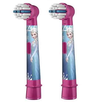 Накрайник за електическа четка за зъби за деца СТЕЙДЖЕС ПАУЪР (Замръзналото кралство) 3+ 2бр БРАУН ОРАЛ-Б | Brush head for electric toothbrush battery for kids STAGES POWER (Frozen) KIDS 3+ 2s BRAUN ORAL-B