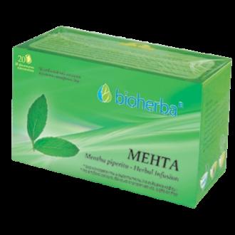 БИОХЕРБА Билков чай Мента 20бр филтърни пакетчета | BIOHERBA Herbal infusion Mentha 20s tisane
