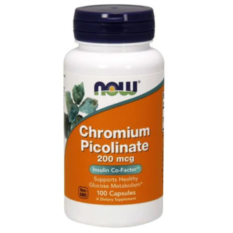 ХРОМ ПИКОЛИНАТ 200мкг капс 100бр. НАУ ФУУДС | CHROIMUM PICOLINATE 200mcg caps. 100s NOW FOODS