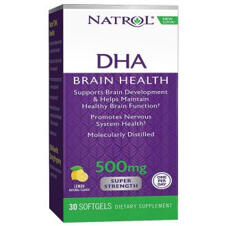 ДХА СУПЕР СИЛНА 500 мг. 30 гел капс. НАТРОЛ | DHA SUPER STRENGHT 500 mg 30 softgels NATROL