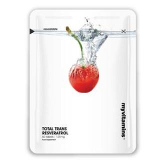 ТОТАЛ ТРАНС РЕСВЕРАТРОЛ 125mg 60 таблетки МАЙВИТАМИНС | TOTAL TRANS RESVERATROL 125mg 60 tabs MYVITAMINS