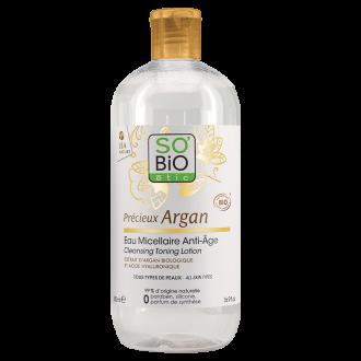 СО'БИО PRECIEUX ARGAN Анти-ейдж мицеларна вода 500мл | SO'BIO PRECIEUX ARGAN Anti-aging micellar water 500ml