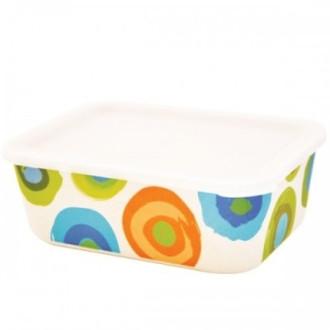 ЕКО КУТИЯ ОТ БАМБУК ЗА СЪХРАНЕНИЕ НА ХРАНА Цветни кръгове, размери БАЛЕВ БИО | ECO BAMBOO BOX Colorful circles, sizes BALEV BIO