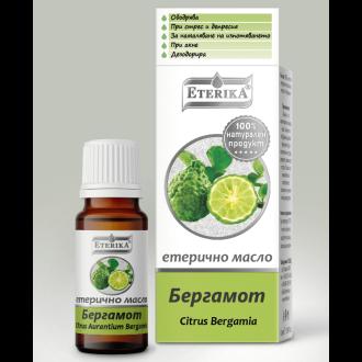 Етерично масло от БЕРГАМОТ 10мл ЕТЕРИКА | Essential BERGAMOT oil 10ml ETERIKA