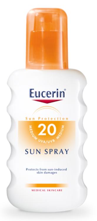 ЮСЕРИН СЪН Слънцезащитен спрей SPF20 200мл | EUCERIN SUN Spray SPF20 200ml