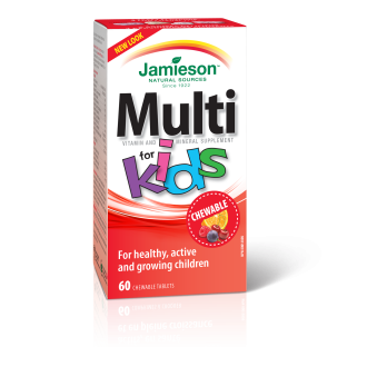 МУЛТИВИТАМИНИ ЗА ДЕЦА желирани таблетки 60бр ДЖЕЙМИСЪН | MULTI FOR KIDS chewable tablets 60s JAMIESON