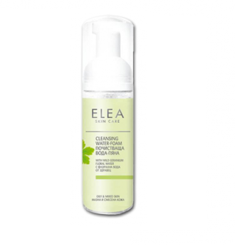 ЕЛЕА Почистваща вода-пяна за лице мазна и смесена кожа 165мл   ELEA Cleansing water-foam oily & mixed skin 165ml