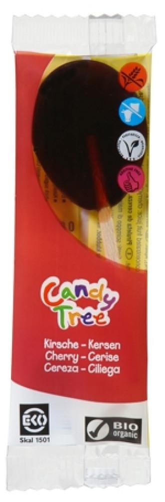 БИО Близалка Череша 1бр x 13гр КЕНДИ ТРИ | BIO Lollipop Cherry 1s x 13g CANDY TREE