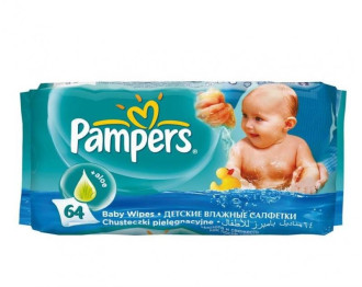 ПАМПЕРС Мокри кърпички с Алое 64бр | PAMPERS Wet Wipes with Aloe 64s