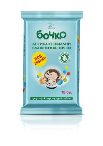Мокри кърпи, антибактериални 18бр БОЧКО | Antibacterial wet wipes 18s BOCHKO