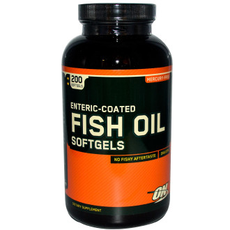 РИБЕНО МАСЛО меки капсули 200 бр. ОПТИМУМ НУТРИШЪН | FISH OIL softgels 200s OPTIMUM NUTRITION