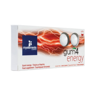ГЪМ Дъвка за енергия х 10бр. МАЙЕЛЕМЪНТС | GUM 4 Energy 10s MYELEMENTS