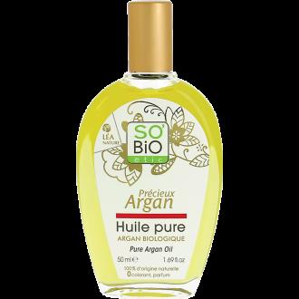 СО'БИО PRECIEUX ARGAN Подхранващо натурално арганово масло 50мл | SO'BIO PRECIEUX ARGAN Organic pure argan oil 50ml