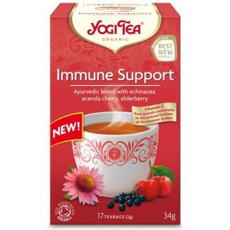 """ЙОГИ ОРГАНИК БИО Аюрведичен чай """"Подкрепа на имунната система"""", пакетчета 17бр   YOGI ORGANIC BIO Ayurvedic tea blend """"Immune support"""" teabags 17s"""