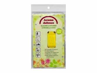 АРОМА ДЕФЕНС СИЛИКОНОВА ГРИВНА (контейнер) Против насекоми За възрастни - Избор от цветове 1бр. | AROMA DEFENCE INSECT WRISTBAND (container) For adults - Colour mix 1s