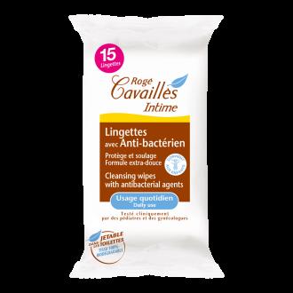 Мокри кърпи за интимна хииена, антибактериални 15бр РОЖЕ КАВАЙЕ | Intimate wipes with antibacterial agent 15s ROGE CAVAILLES