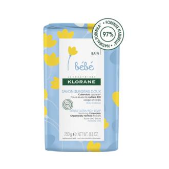 КЛОРАН БЕБЕ Нежен обогатен сапун 250гр | KLORANE BABY Ultra-rich soap extra mild 250g