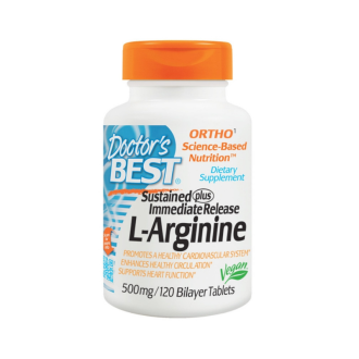 Л-АРГИНИН 500мг. 120 таблетки ДОКТОРС БЕСТ | L-ARGININE 500mg 120s tabs DOCTOR'S BEST