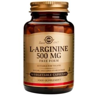 Л-АРГИНИН 500мг растителни капсули 50бр. СОЛГАР | L-ARGININE 500mg veg.caps. 50s SOLGAR