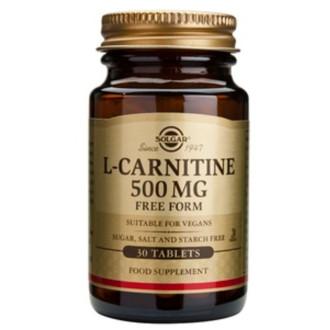 Л-КАРНИТИН 500мг, растителни капсули, 30бр. СОЛГАР | L-CARNITINE 500mg, veg.caps. 30s SOLGAR