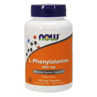 Л-ФЕНИЛАЛАНИН 500мг капсули 120 бр. НАУ ФУУДС | L-PHENYLALANINE 500mg caps 120s NOW FOODS