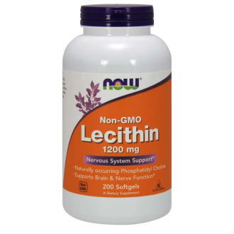 ЛЕЦИТИН 1200мг меки капсули 200 бр. НАУ ФУУДС | LECITHIN 1200mg softgels 200s NOW FOODS