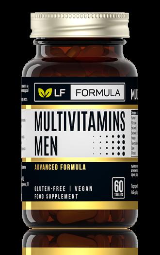 ЛФ ФОРМУЛА Мултивитамини за мъже 60бр. таблетки ФОРТЕКС   LF FORMULA Multivitamins for men 60s tabs FORTEX