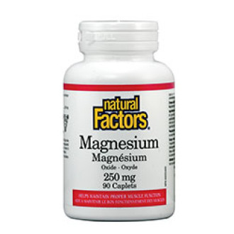 МАГНЕЗИЙ 250мг 90 каплети НАТУРАЛ ФАКТОРС | MAGNESIUM 250mg 90 caplets NATURAL FACTORS