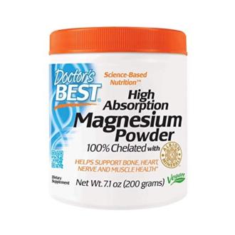 МАГНЕЗИЙ 100% хелатиран (с висока абсорбация) пудра 200гр. ДОКТОРС БЕСТ | MAGNESIUM 100% chelated (hight absorbtion) powder 200g DOCTOR'S BEST