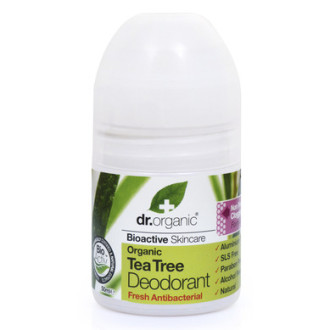 Д-Р ОРГАНИК Чаено дърво дезодорант рол-он 50мл | DR ORGANIC Tea tree deodorant roll-on 50ml