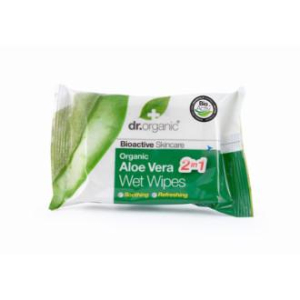 Д-Р ОРГАНИК Алое вера мокри кърпички 20бр | DR ORGANIC Aloe vera wet wipes 20s
