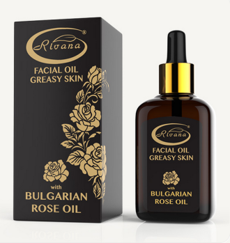 РИВАНА Масло за лице с БЪЛГАРСКО РОЗОВО МАСЛО (За мазна кожа) 30мл | RIVANA Face oil with BULGARIAN ROSE OIL (Greasy skin) 30ml