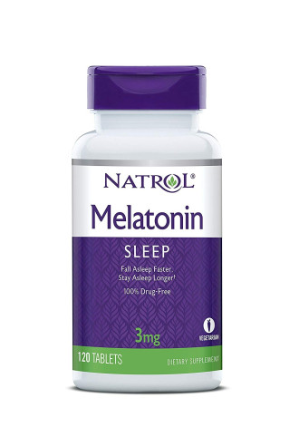МЕЛАТОНИН 3мг 120 таблетки НАТРОЛ | MELATONIN 3mg 120 tabs NATROL