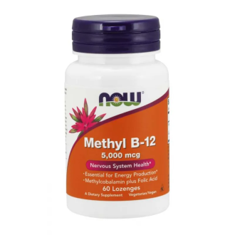 МЕТИЛ Б-12 5000мкг 100 дражета НАУ ФУУДС | METHYL B-12 5000mcg 100 dragees NOW FOODS