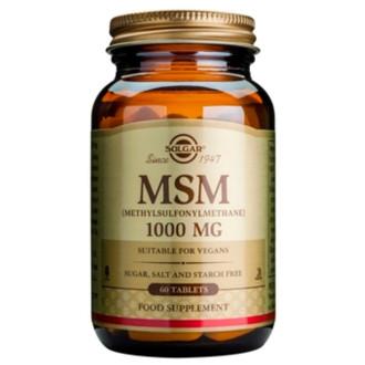 МСМ 1000мг таблетки 60бр СОЛГАР | MSM 1000mg tabs 60s SOLGAR