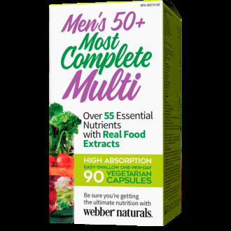 МУЛТИВИТАМИНИ ЗА МЪЖЕ 50+ вег. капс. 90бр. УЕБЪР НАТУРАЛС   MEN'S 50+ MOST COMPLETE MULTI 90s veg caps WEBBER NATURALS
