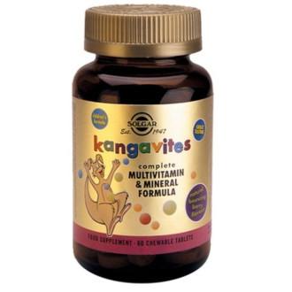 КАНГАВИТС ФОРМУЛА дъвчащи табл. 60бр. (горски плодове) СОЛГАР | KANGAVITES FORMULA chewable tabs 60s (berries) SOLGAR