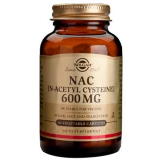 Н-АЦЕТИЛ-Л-ЦИСТЕИН (НАЦ) растителни капсули 60бр. СОЛГАР | N-ACETYL-L-CYSTEINE (NAC) veg.caps. 60s SOLGAR