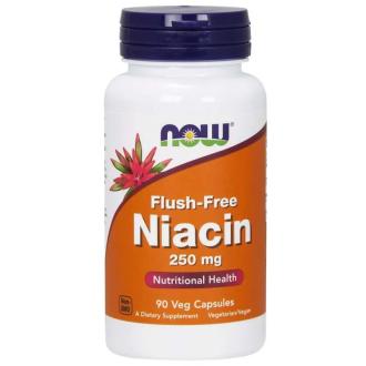 ФЛЪШ-ФРИ НИАЦИН 250 мг 90 капс. НАУ ФУУДС | FLUSH-FREE NIACIN 250 mg 90 caps NOW FOODS