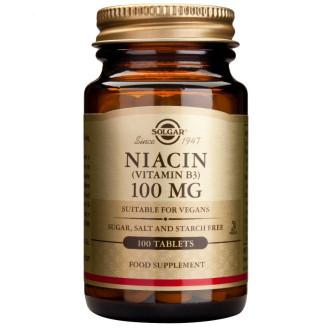 НИАЦИН 100мг таблетки 100бр. СОЛГАР | NIACIN 100mg tabs 100s SOLGAR