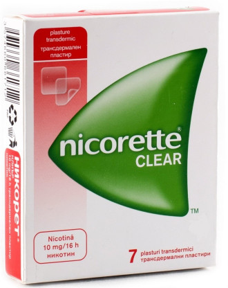 НИКОРЕТ КЛИЪР 10мг./15мг./25мг./16ч. трансдермален пластир 7бр. | NICORETTE CLEAR 10mg/15mg/25mg/16h transdermal patch 7s