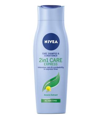 НИВЕА КЕЪР ЕКСПРЕС 2в1 Шампоан и балсам 400мл | NIVEA CARE EXPRESS 2in1 Shampoo and conditioner 400ml